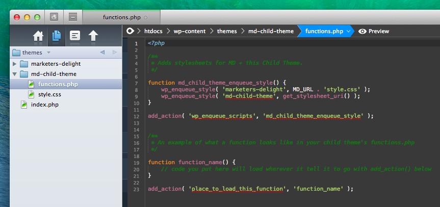 Example of functions in Coda 2