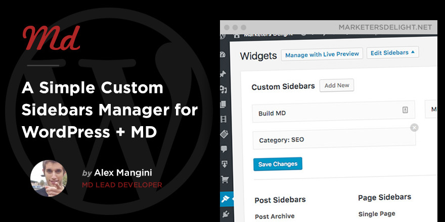 Custom Sidebars in WordPress