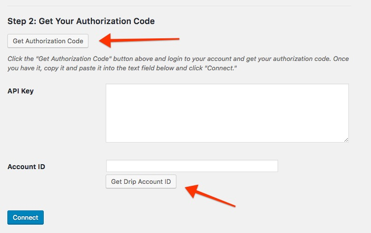 Get Drip API Keys