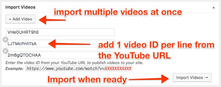 Import YouTube Videos to WordPress