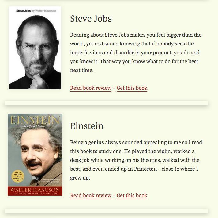 Books Excerpt view WordPress