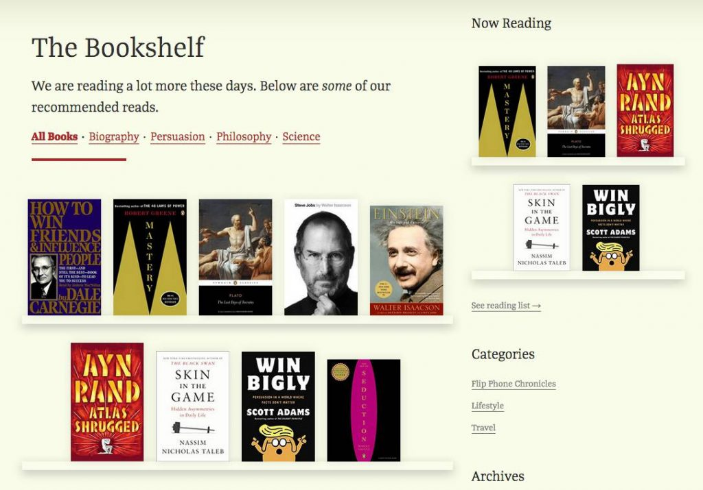 Create a books gallery on your website
