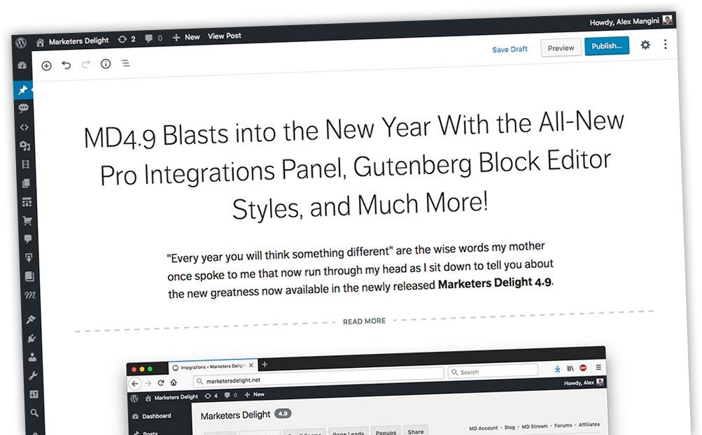 Marketers Delight Gutenberg Blocks