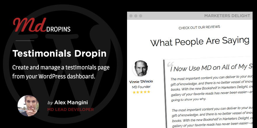 Manage testimonials from WordPress