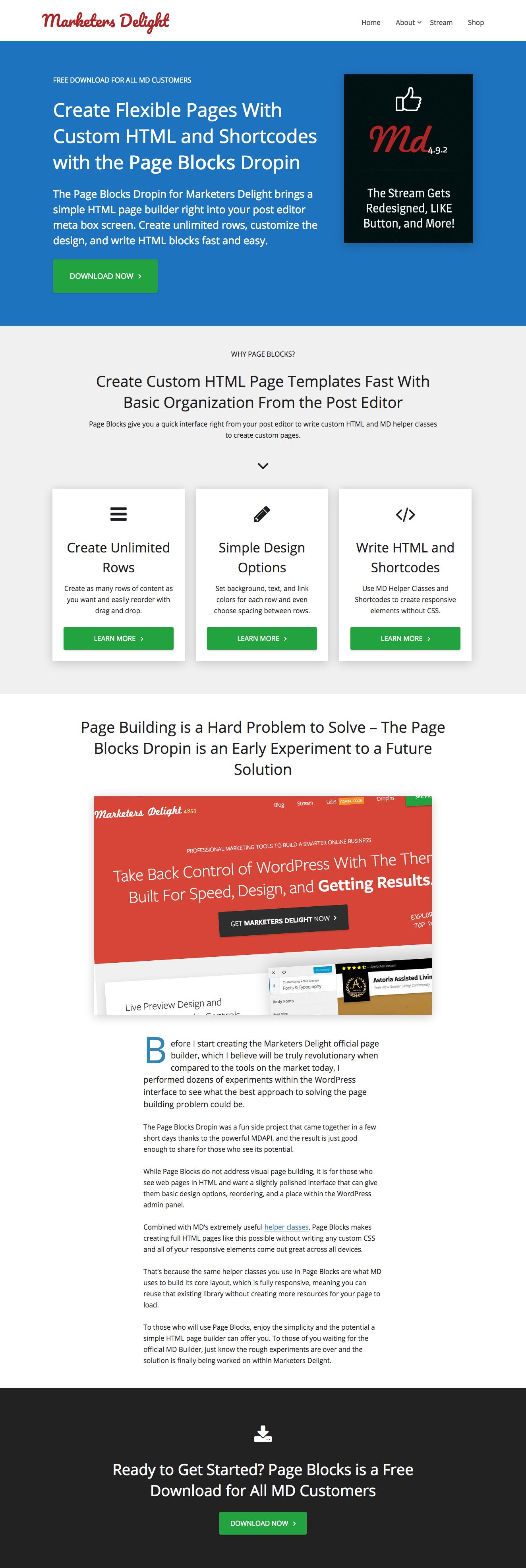 Page Blocks Default Preview