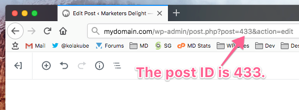 Get the post ID in your WordPress URL