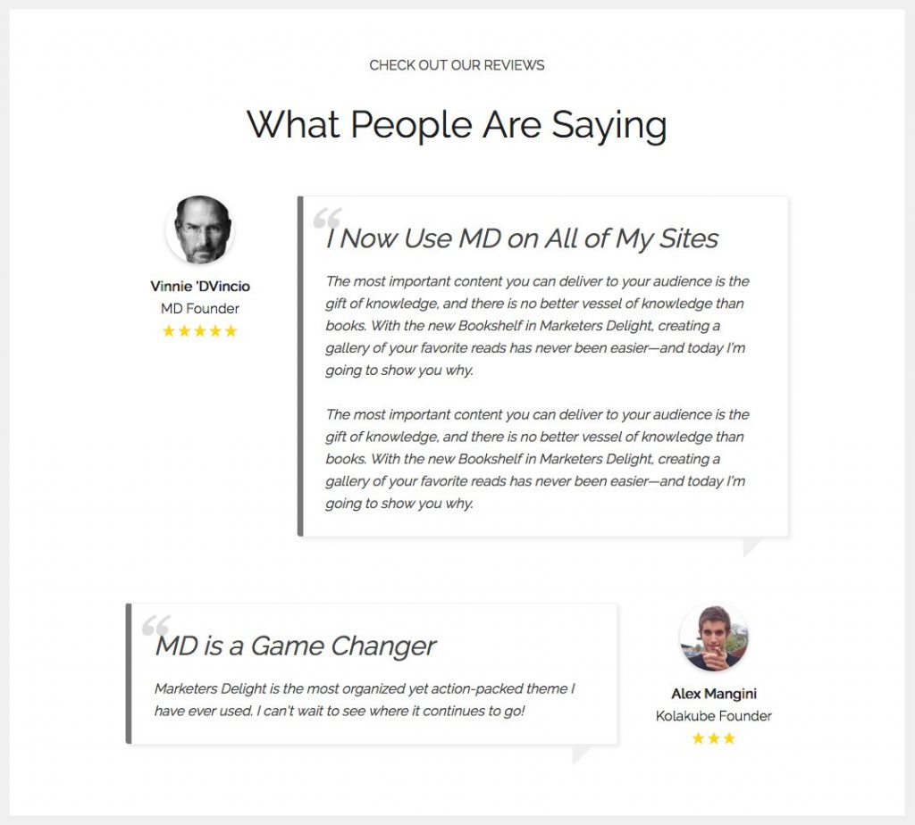 Create a testimonials page on your WordPress website