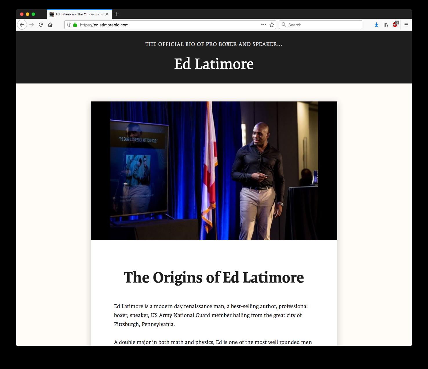 Ed Latimore Bio