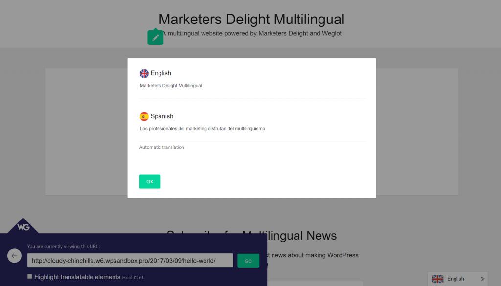 WP Multi Language Weglot