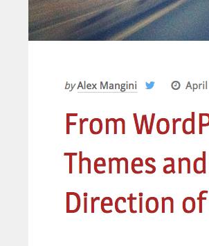 WordPress theme typography