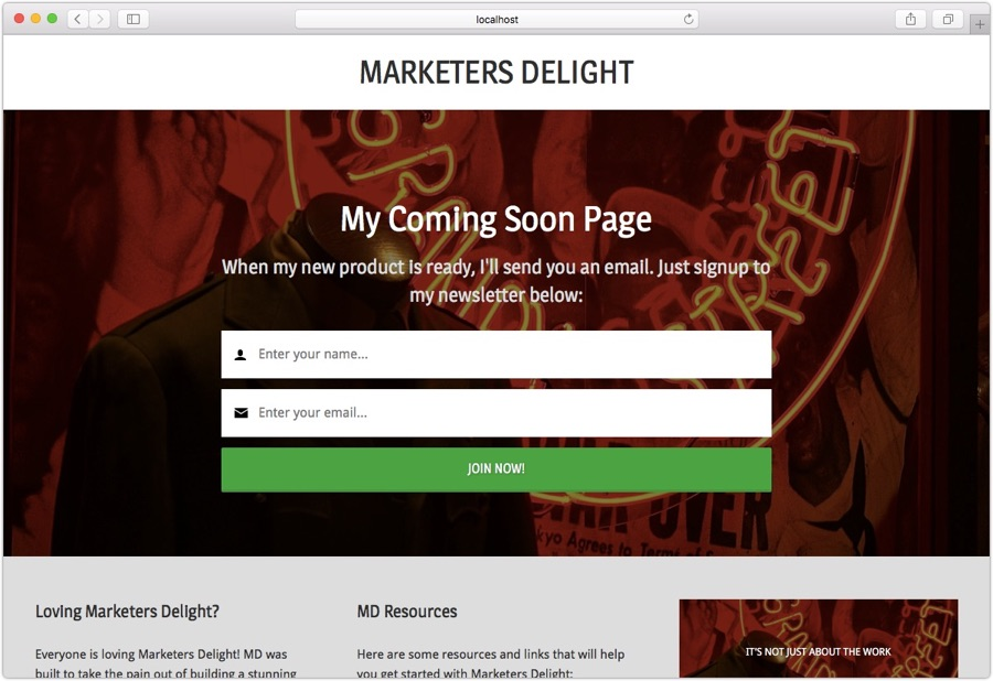 Coming soon page WordPress