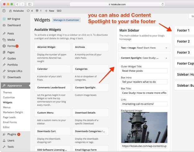 Featured post spotlight WordPress