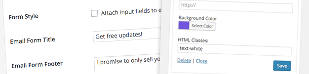 Email Forms Improvements