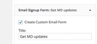 Email Signup Form Widget