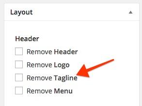 Remove Header Tagline