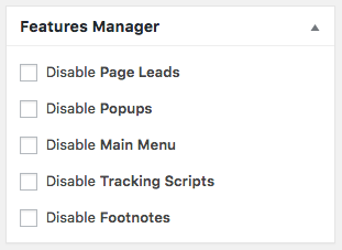 MD Features Manager