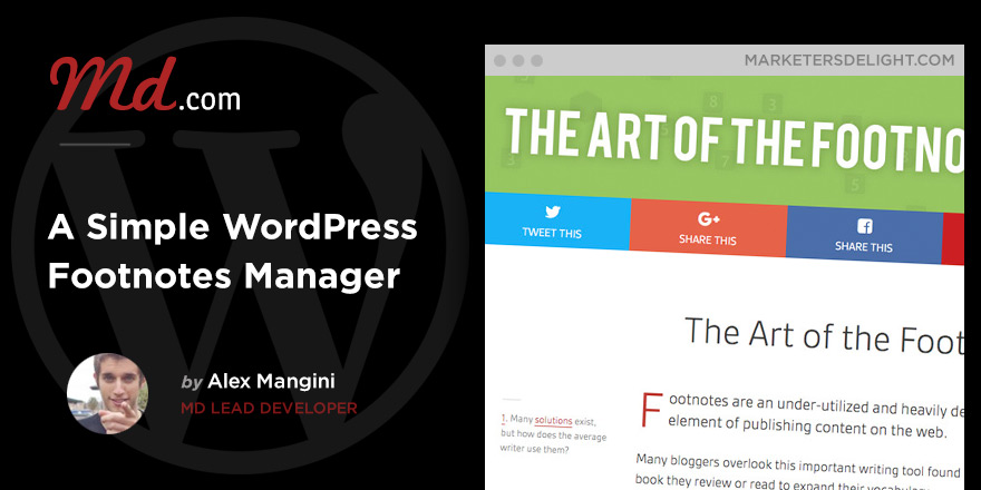 Add a simple footnotes manager to your WordPress posts