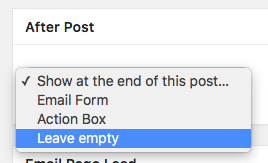 After Post Email Form