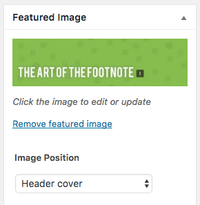 Featured Image Position WordPress