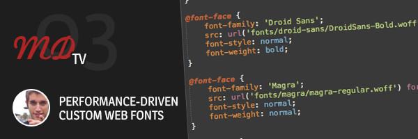 MDTV03 Custom Web Fonts