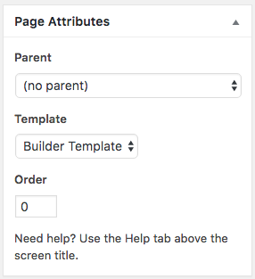 Page Builder Template
