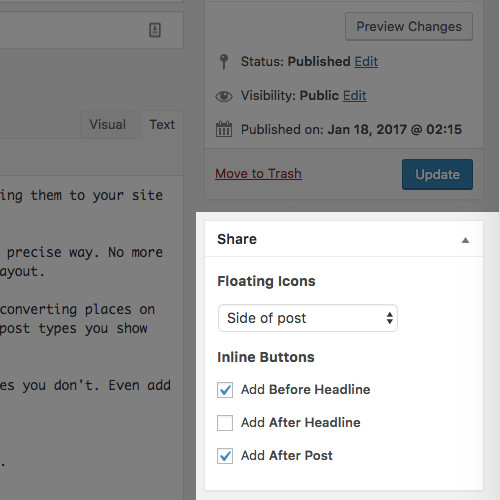 Add a Like Button and Share Icons to WordPress with MD Pro Share
