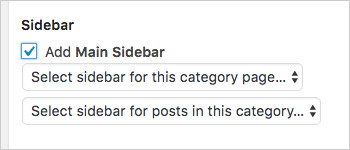 Custom sidebars across WordPress categories