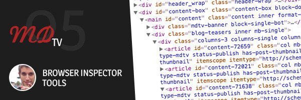 Design website with browser inspector tools
