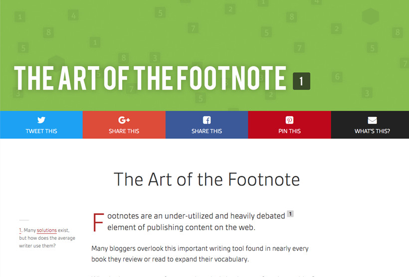 MD Footnotes for WordPress