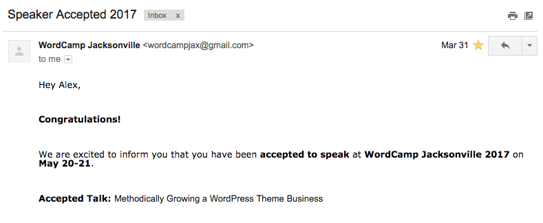 WordCamp Jacksonville Speaker