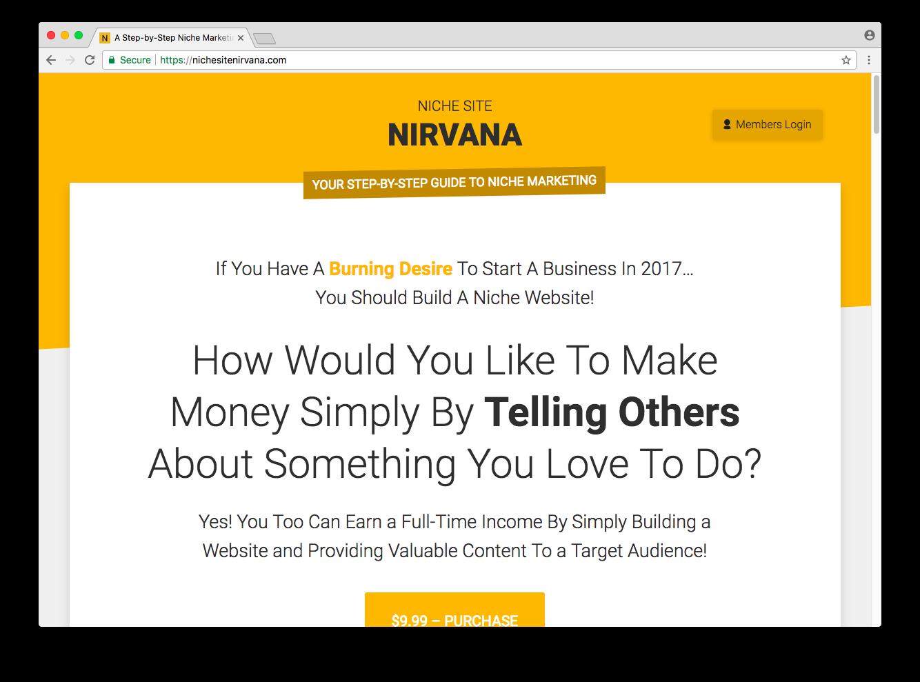 Niche Site Nirvana