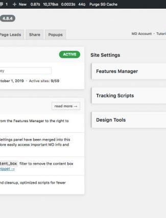 WordPress MD Admin panel redesign