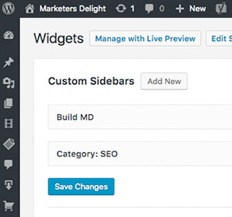 Make custom sidebars in WordPress