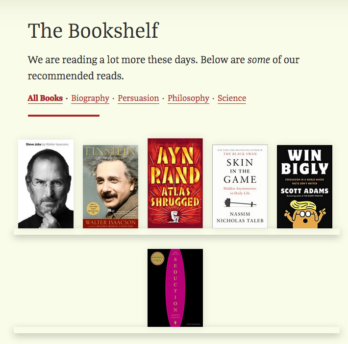 Sort books by category