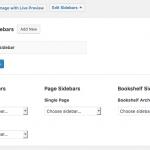 Add custom sidebars to the Bookshelf page