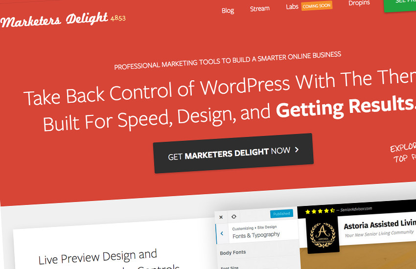 Marketers Delight Redesign
