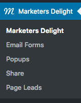 MD admin menu wordpress