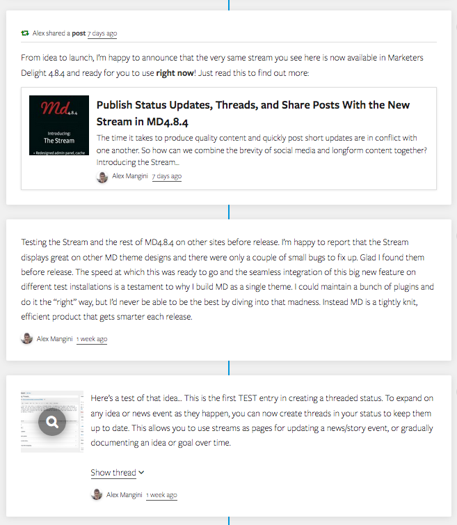 Stream for WordPress