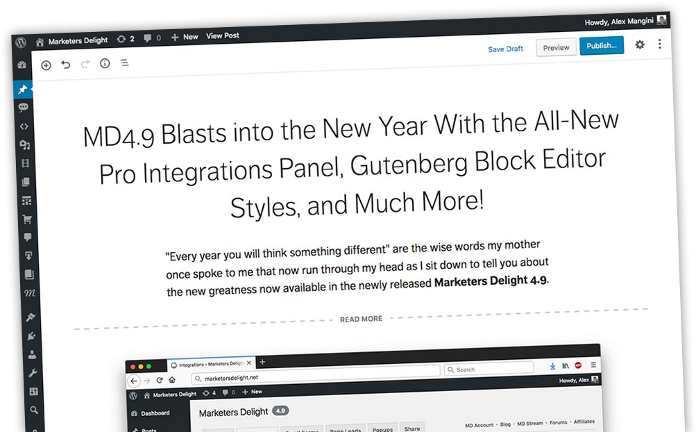 Marketers Delight Gutenberg Blocks
