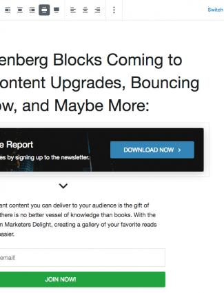 New Gutenberg Blocks coming in MD4.9.3