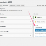 Integrate Google Analytics with Marketers Delight