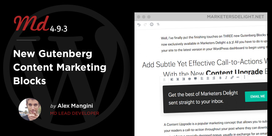 Gutenberg Content Marketing Blocks
