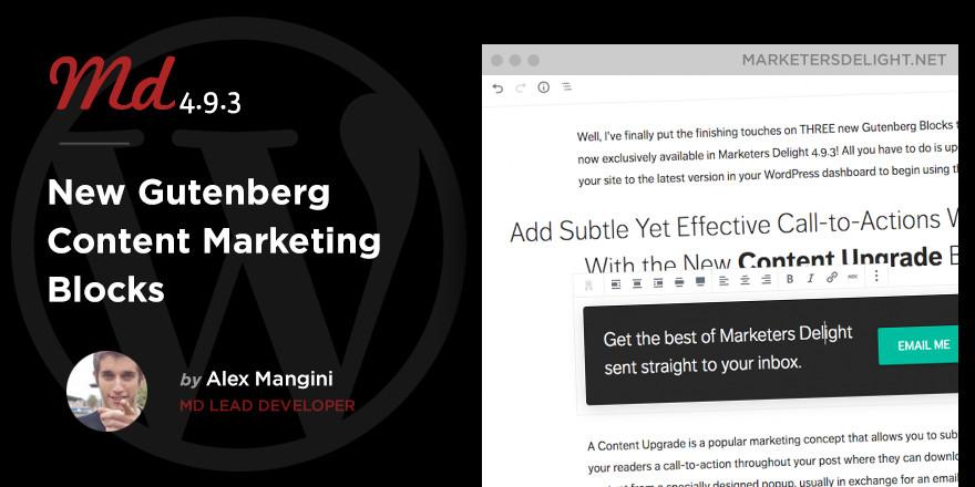 Gutenberg Content Marketing Blocks