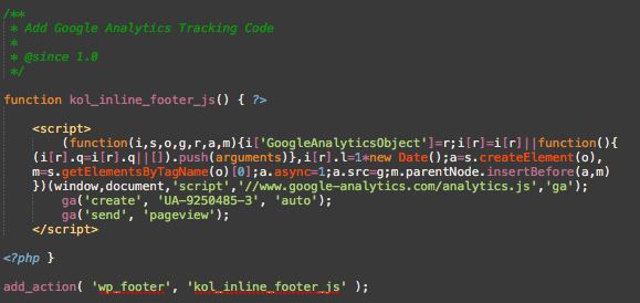 WP Footer Tracking Scripts