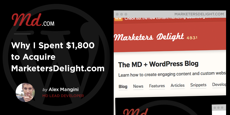 Welcome to MarketersDelight.com
