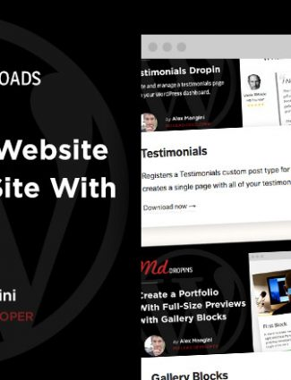 Add custom features to your website with MD Dropins