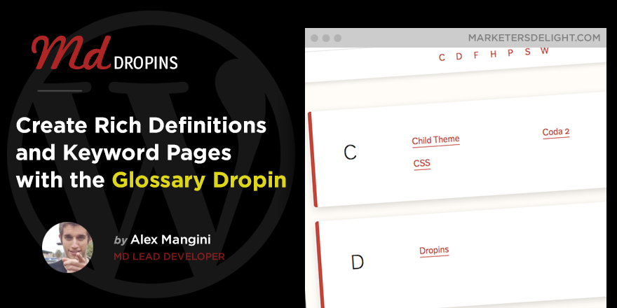 Create a WordPress Glossary With Marketers Delight