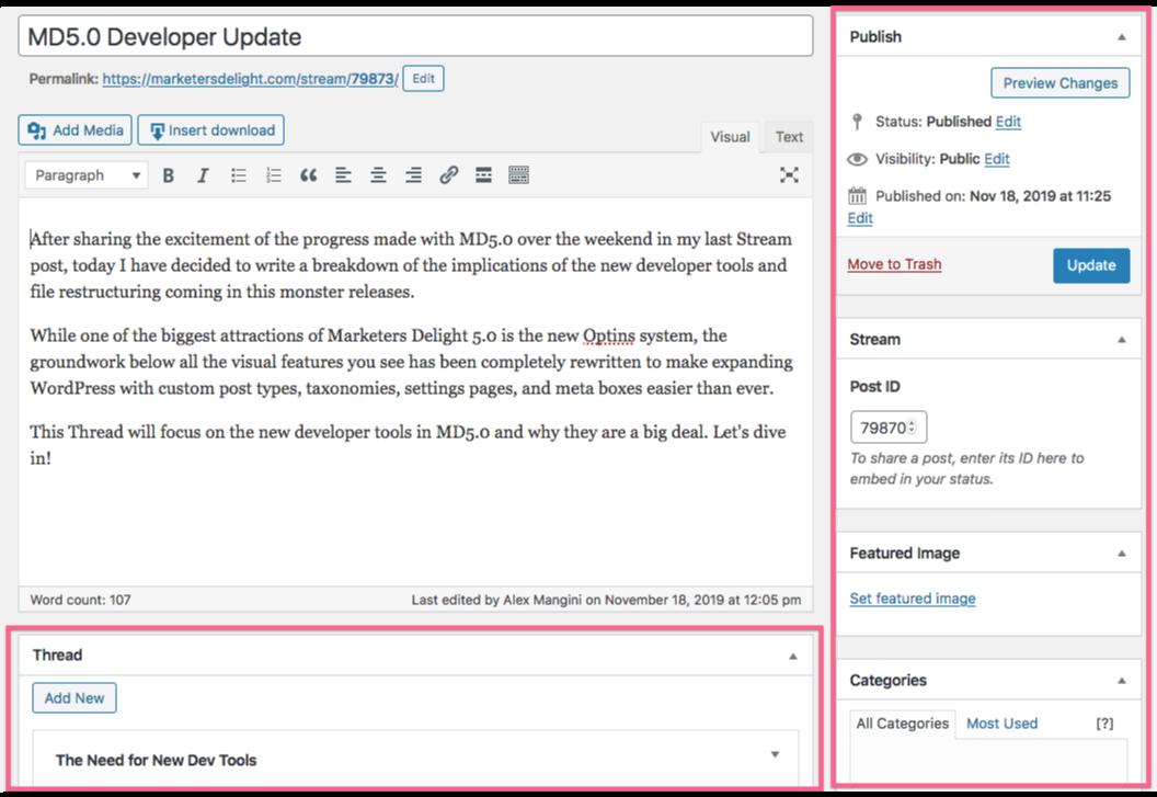 WordPress meta boxes