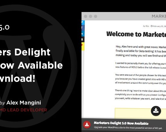 Marketers Delight 5.0 for WordPress