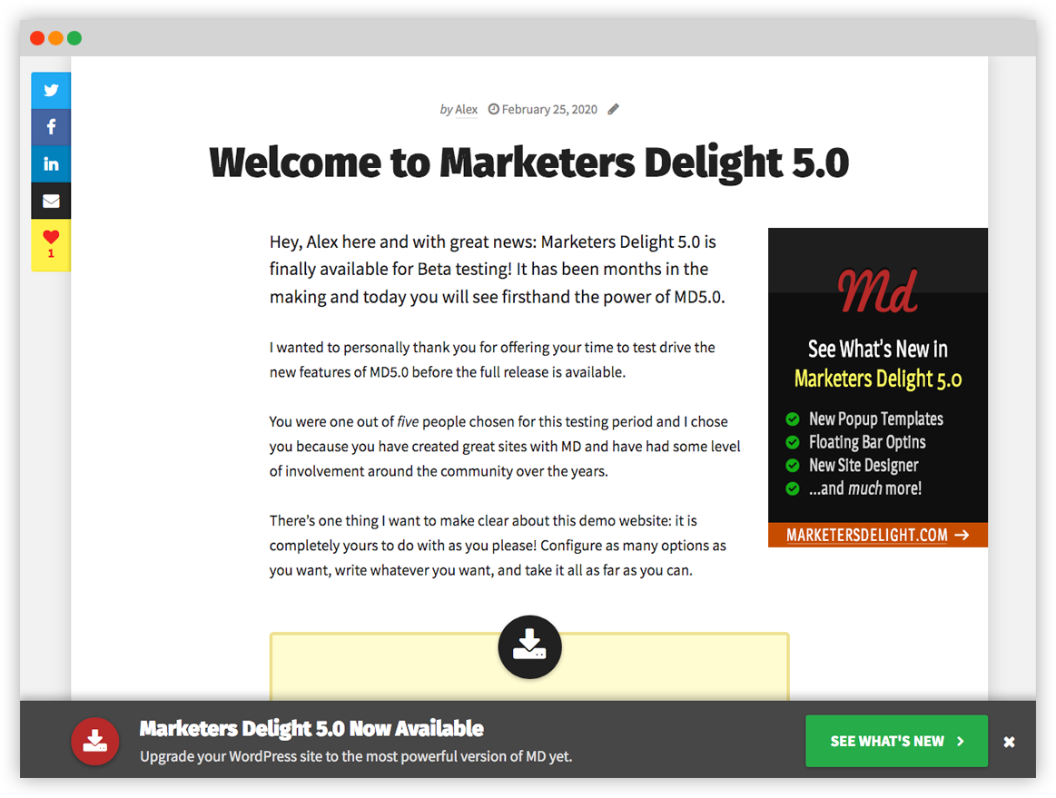 Marketers Delight Design Preview